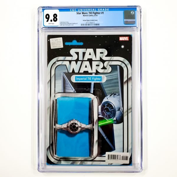 Star Wars: TIE Fighter #1 CGC 9.8 NM/M Action Figure Variant Front
