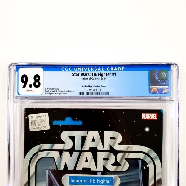 Star Wars: TIE Fighter #1 CGC 9.8 NM/M Action Figure Variant Front Label