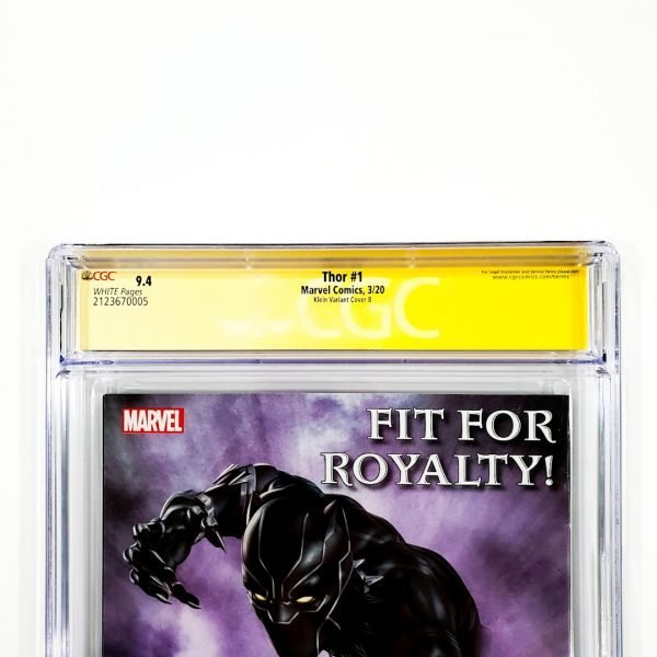 Thor (2020) #1 CGC SS 9.4 NM Klein Variant B Back Label