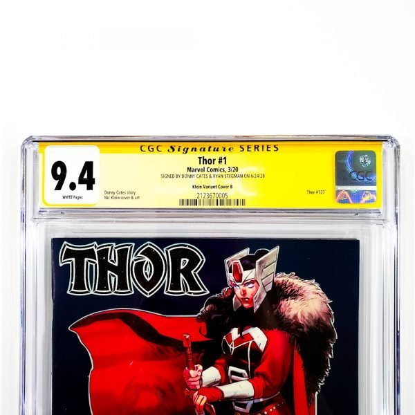 Thor (2020) #1 CGC SS 9.4 NM Klein Variant B Front Label