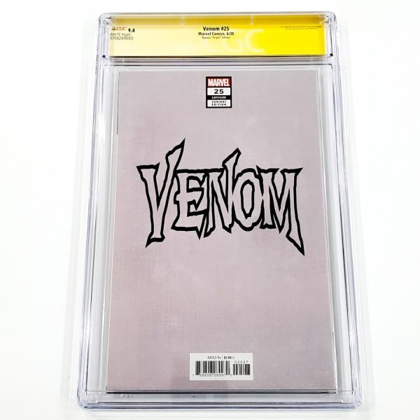 Venom #25 CGC SS 9.4 NM Rapoza Virgin Variant Back