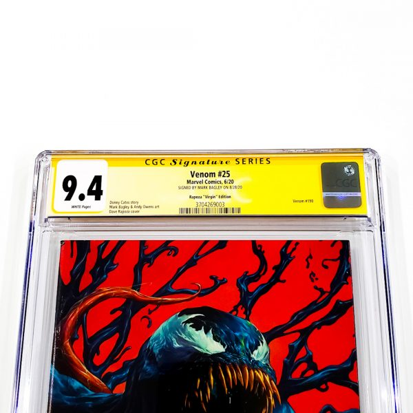 Venom #25 CGC SS 9.4 NM Rapoza Virgin Variant Front Label