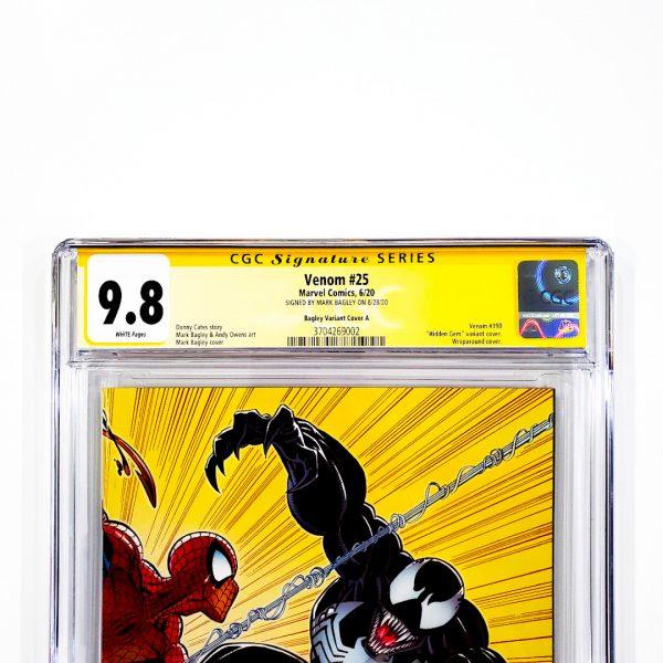 Venom (2018) #25 CGC SS 9.8 NM/M Bagley Variant A Front Label