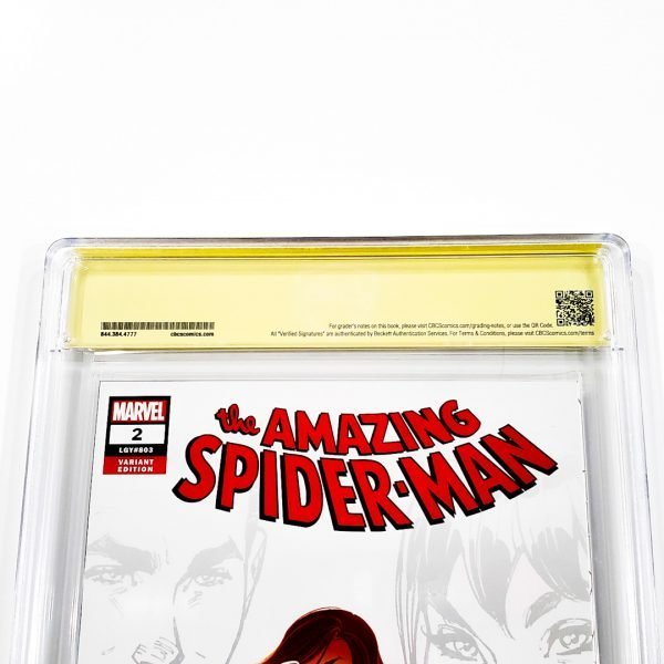 Amazing Spider-Man (2018) #2 CBCS SS 9.8 NM/M Campbell Variant A Back Label