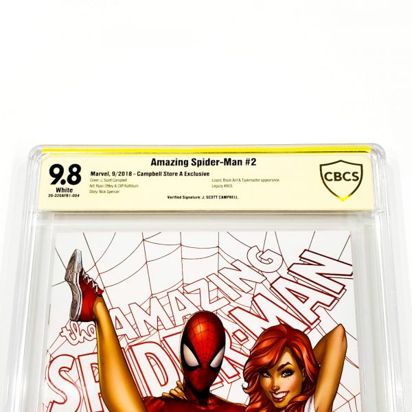 Amazing Spider-Man (2018) #2 CBCS SS 9.8 NM/M Campbell Variant A Front Label