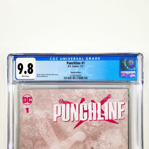 Punchline #1 CGC 9.8 NM/M Sketch Variant Front Label