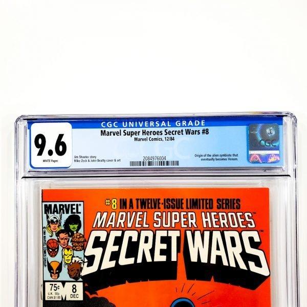 Marvel Super Heroes Secret Wars #8 CGC 9.6 NM+ Front Label