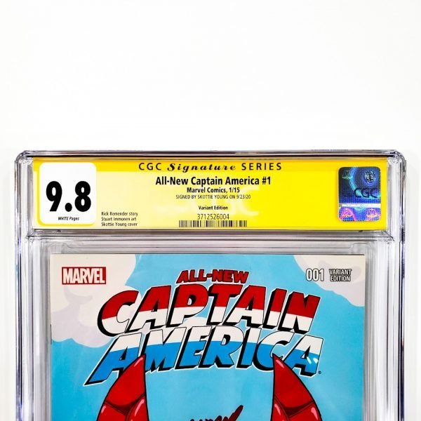 All-New Captain America #1 CGC SS 9.8 NM/M Variant Front Label