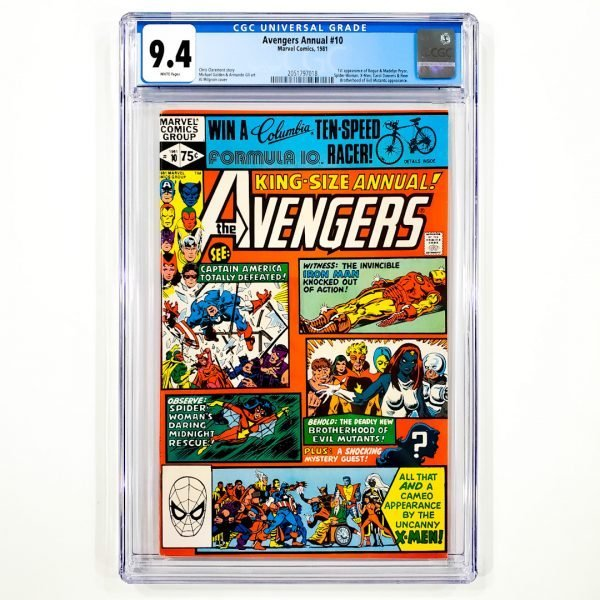 Avengers Annual #10 CGC 9.4 NM Front