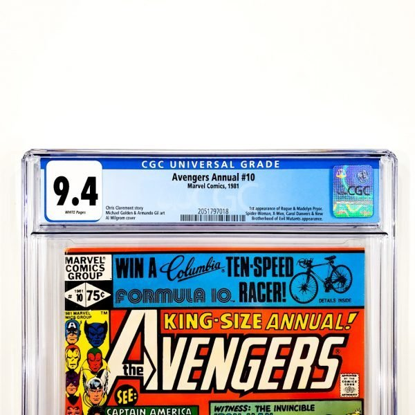 Avengers Annual #10 CGC 9.4 NM Front Label