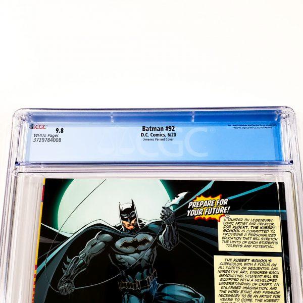 Batman #92 CGC 9.8 NM/M Jimenez 1:25 Design Variant Back Label