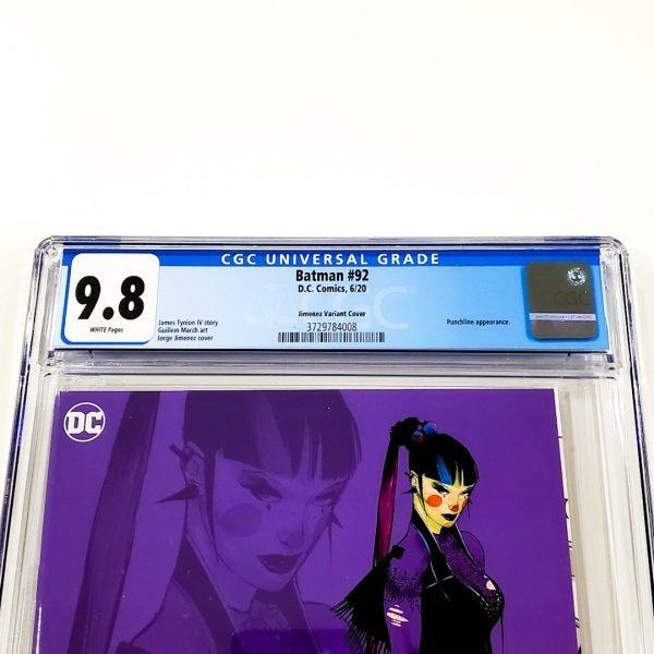 Batman #92 CGC 9.8 NM/M Jimenez 1:25 Design Variant Front Label