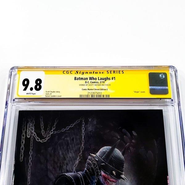 Batman Who Laughs #1 CGC SS 9.8 NM/M Comic Market Street Edition E Front Label