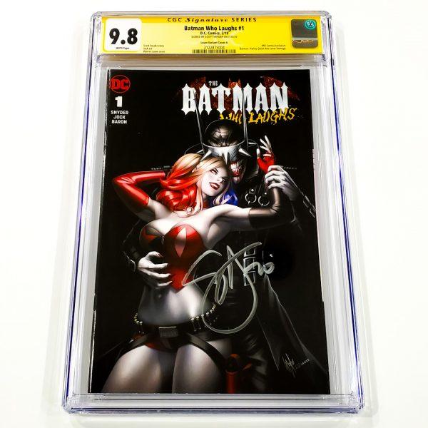 Batman Who Laughs #1 CGC SS 9.8 NM/M Louw Variant A Front