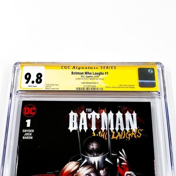 Batman Who Laughs #1 CGC SS 9.8 NM/M Louw Variant A Front Label