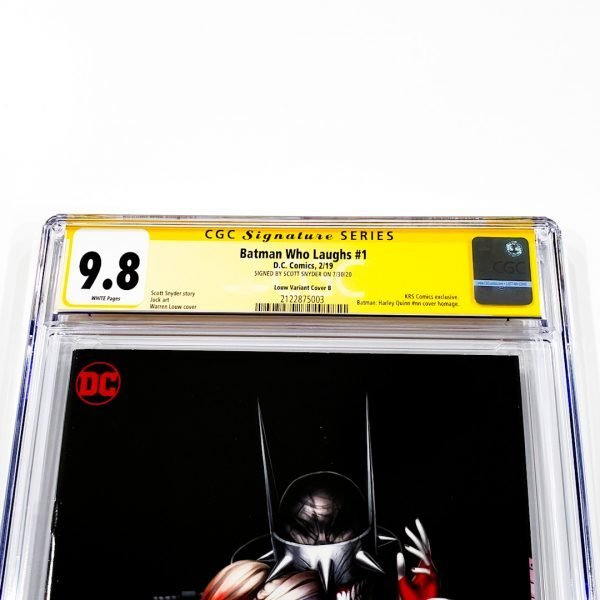 Batman Who Laughs #1 CGC SS 9.8 NM/M Louw Variant B Front Label
