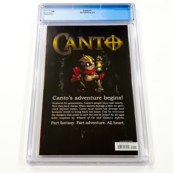 Canto #1 CGC 9.8 NM/M Back