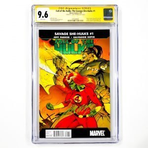 Fall of the Hulks: The Savage She-Hulks #1 CGC SS 9.6 NM+ Front