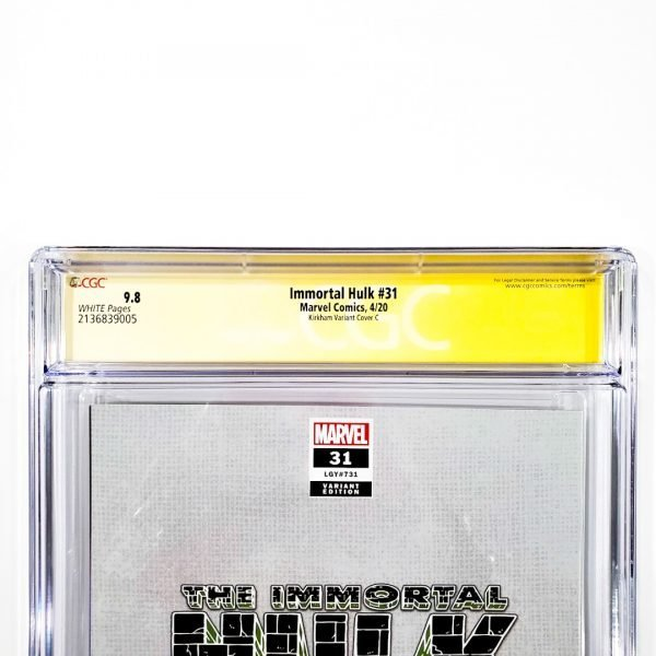 Immortal Hulk #31 CGC SS 9.8 NM/M Kirkham Variant C Back Label