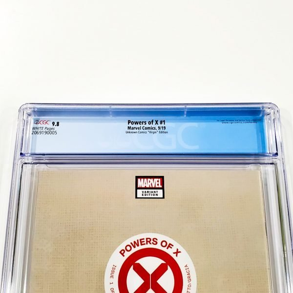 Powers of X #1 CGC 9.8 NM/M Unknown Comics Virgin Variant Back Label