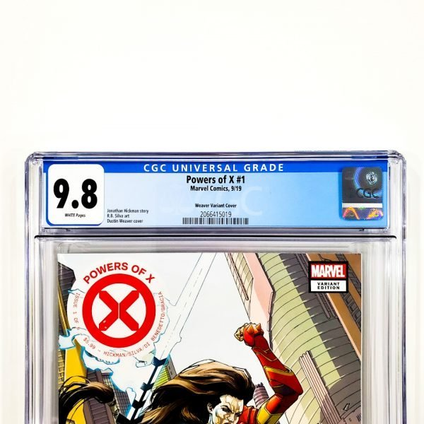 Powers of X #1 CGC 9.8 NM/M Weaver Variant Front Label