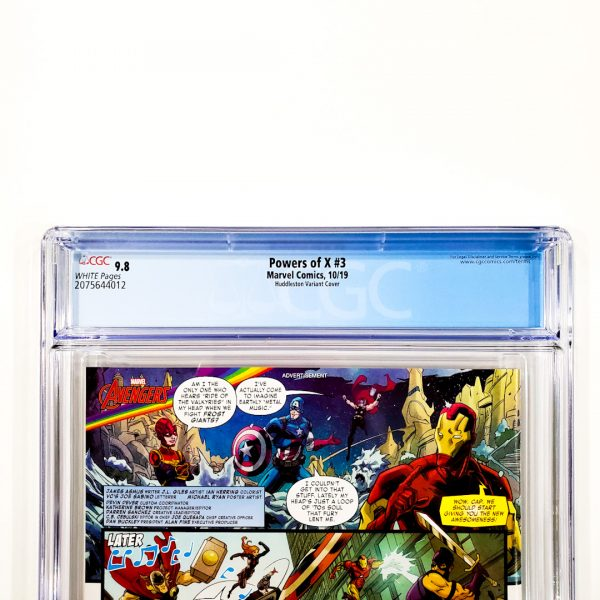 Powers of X #3 CGC 9.8 NM/M Huddleston Variant Back Label