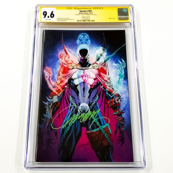 Spawn #301 CGC SS 9.6 NM+ Variant Cover P Front