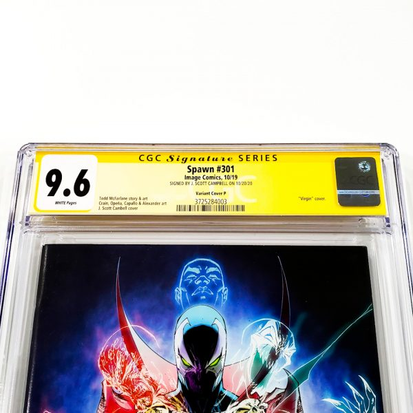 Spawn #301 CGC SS 9.6 NM+ Variant Cover P Front Label