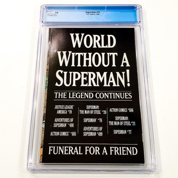 Superman #75 CGC 9.6 NM+ Newsstand Edition Back