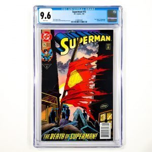 Superman #75 CGC 9.6 NM+ Newsstand Edition Front
