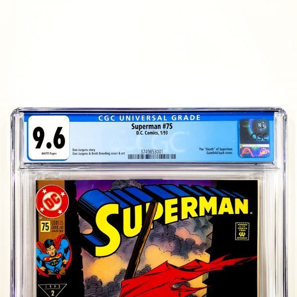 Superman #75 CGC 9.6 NM+ Newsstand Edition Front Label