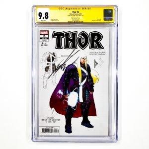 Thor (2020) #2 CGC SS 9.8 NM/M Klein Design Variant Front