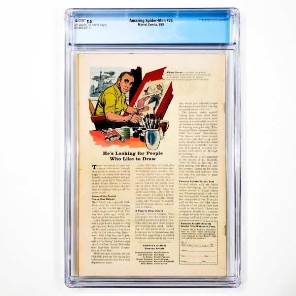 Amazing Spider-Man #25 CGC 5.0 VG/FN Back