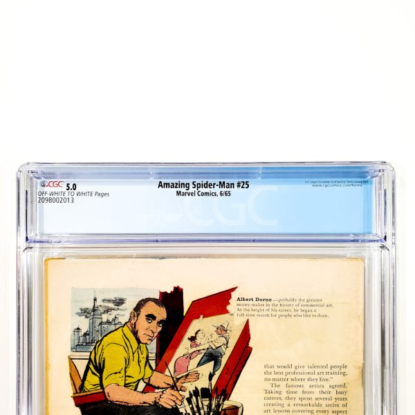 Amazing Spider-Man #25 CGC 5.0 VG/FN Back Label
