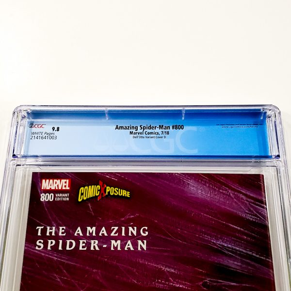 Amazing Spider-Man #800 CGC 9.8 NM/M Dell'Otto Variant D Back Label