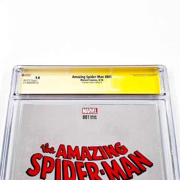 Amazing Spider-Man #801 CGC SS 9.8 NM/M Unknown Comics Variant B Back Label