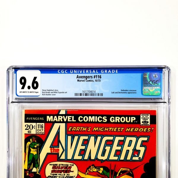 Avengers #116 CGC 9.6 NM+ Front Label