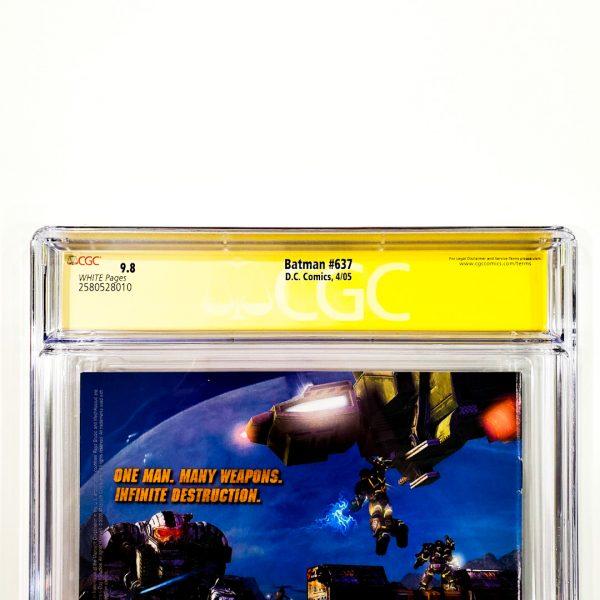 Batman #637 CGC SS 9.8 NM/M Back Label