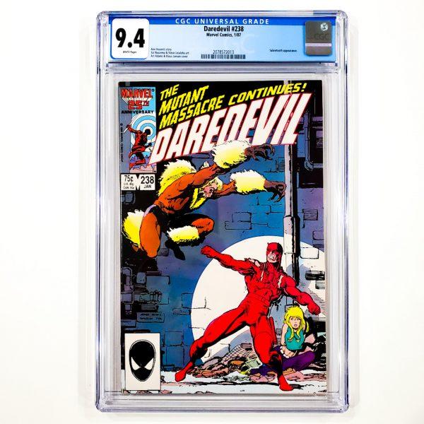 Daredevil #238 CGC 9.4 NM Front
