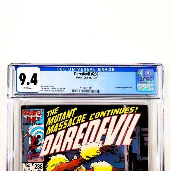 Daredevil #238 CGC 9.4 NM Front Label