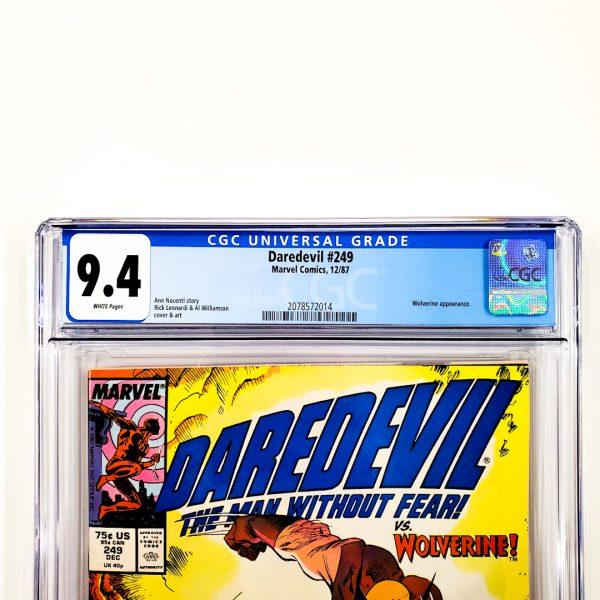Daredevil #249 CGC 9.4 NM Front Label