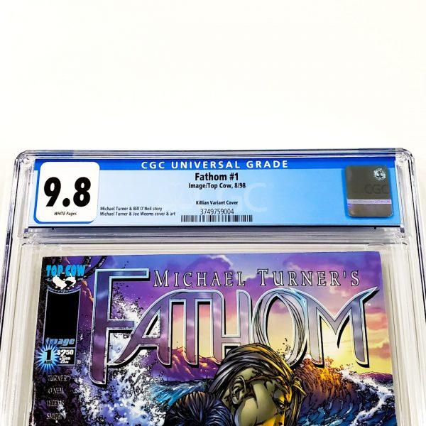 Fathom #1 CGC 9.8 NM/M Killian Variant Front Label
