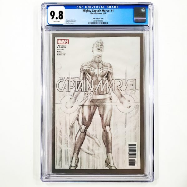 Mighty Captain Marvel #1 CGC 9.8 NM/M Ross Sketch Variant Front