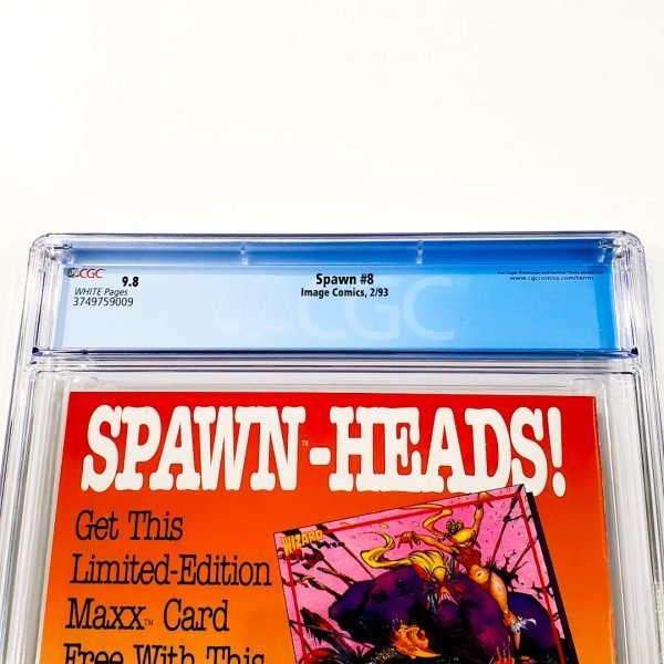 Spawn #8 CGC 9.8 NM/M Back Label