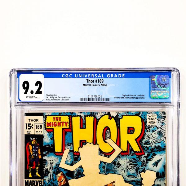 Thor #169 CGC 9.2 NM- Front Label