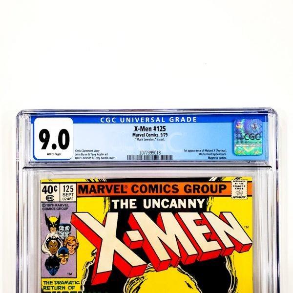 Uncanny X-Men #125 CGC 9.0 VF/NM Mark Jewelers Insert Front Label