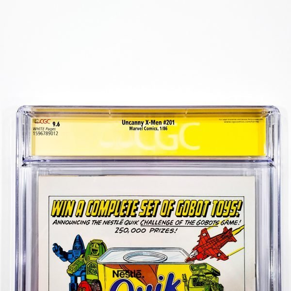 Uncanny X-Men #201 CGC SS 9.6 NM+ Back Label
