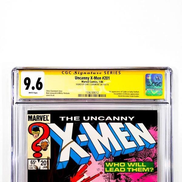 Uncanny X-Men #201 CGC SS 9.6 NM+ Front Label