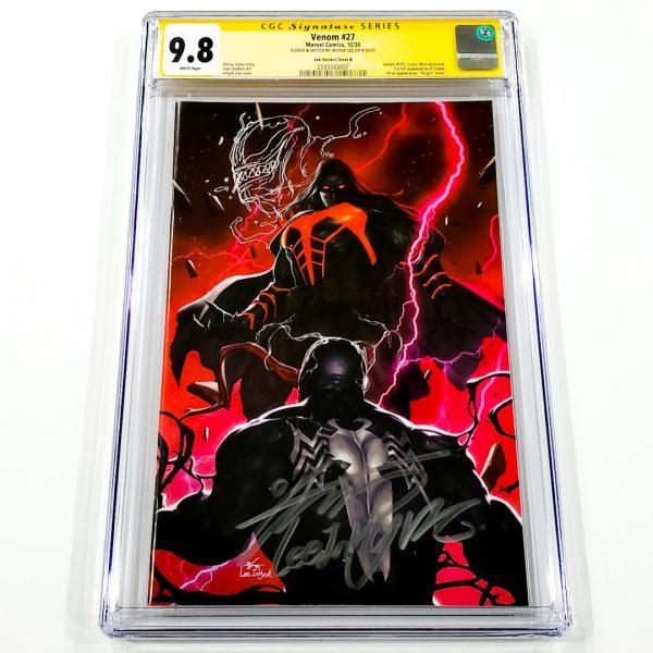 Venom #27 CGC SS 9.8 NM/M Lee Variant B Front