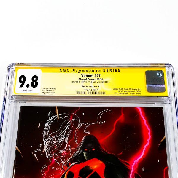 Venom #27 CGC SS 9.8 NM/M Lee Variant B Front Label